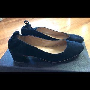 J Crew Black Suede Dress Shoes